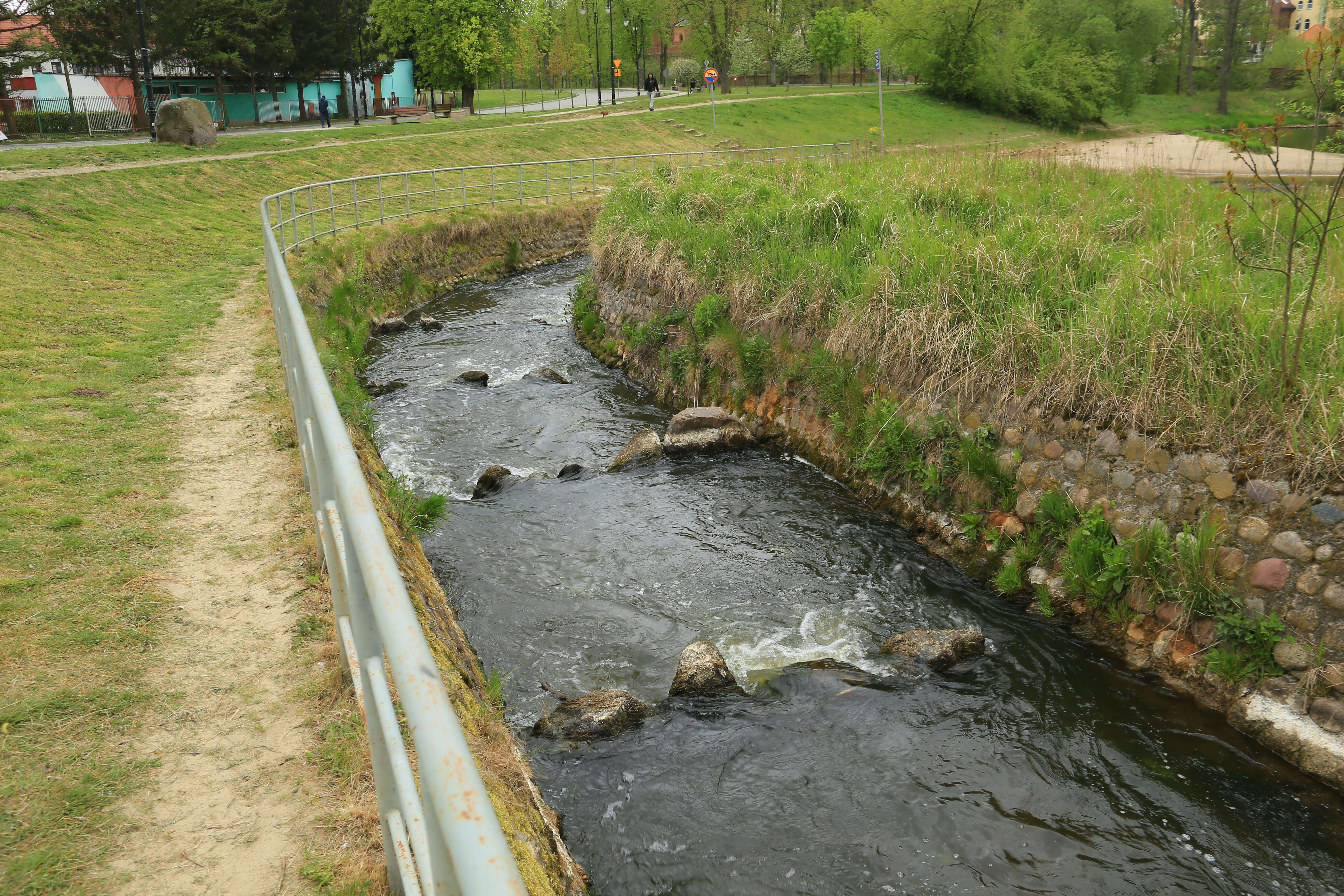 Channel fish pass on the river Pasłęka, Braniewo